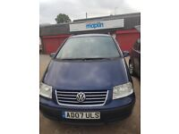 vw Sharan 1.9 TDi, 07 plate for sale, running good but spare or repair.
