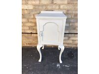 BEDSIDE CABINET PAINTED RUSTIC FARMHOUSE COUNTRY STYLE LOUIS FRENCH SHABBY CHIC