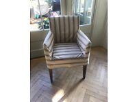 2 x OKA fabric armchairs