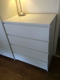 White chest of drawers - free to collect