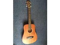 3/4 size Redwood acoustic guitar