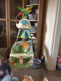 Fisher Price Rainforest Rock/swing chair