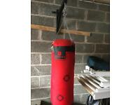 Punch bag with frame