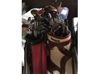 Golf clubs selection