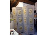 Beautiful, hand painted decorative screen.
