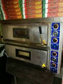 2 deck 3 phase pizza oven