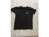 EA7 Emporio Armani mens black t-shirt size medium used once mint condition !