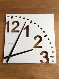 Wall clock, white, by Karlsson