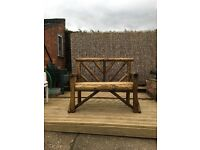 Handmade garden bench 2 seater