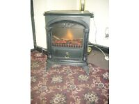 small log effect free standing electrc fire