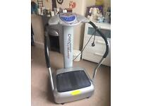 Vibration plate massage machine