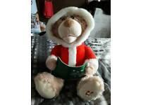 Christmas story telling bear