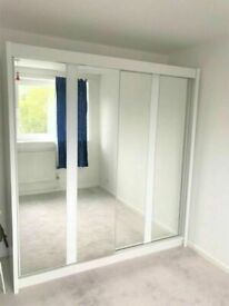 💥💯BIGGEST SALE ON 2/3 DOORS SLIDING WARDROBE WITH FULL MIRRORS ALL SHELVES & RAILS INCLUDED
