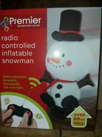 Remote Controlled Inflatable Snowman