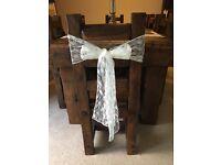50 x lace chair sash - excellent condition £50
