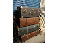 Stunning Steamer Trunk Chest Suit Case Coffee Table - UK Delivery