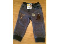 Boys gruffalo trousers 12-18 Months new with tags