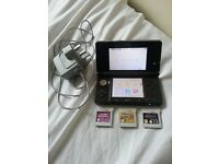 Nintendo 3ds black with 3 games