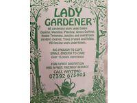 lady gardener gardening services