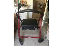 Four Wheeled Mobility Aid - Rollator, with Seat