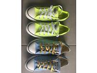 Childrens Converse Shoes x 2 - Unisex colours
