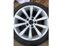 """BMW 17"""" genuine wheels and tyres"""