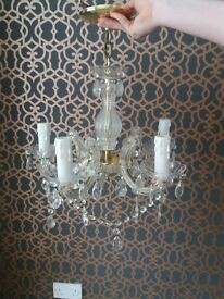 2 crystal chandaliers