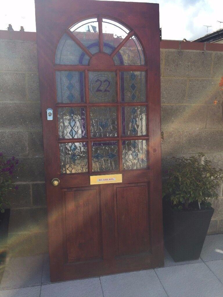 Front Hardwood Door