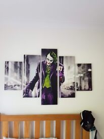 Five panel canvas picture - the joker