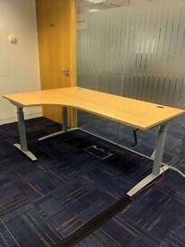 FREE SAME DAY DELIVERY - Senator Height Adjustable Ergonomic Corner Office Desks