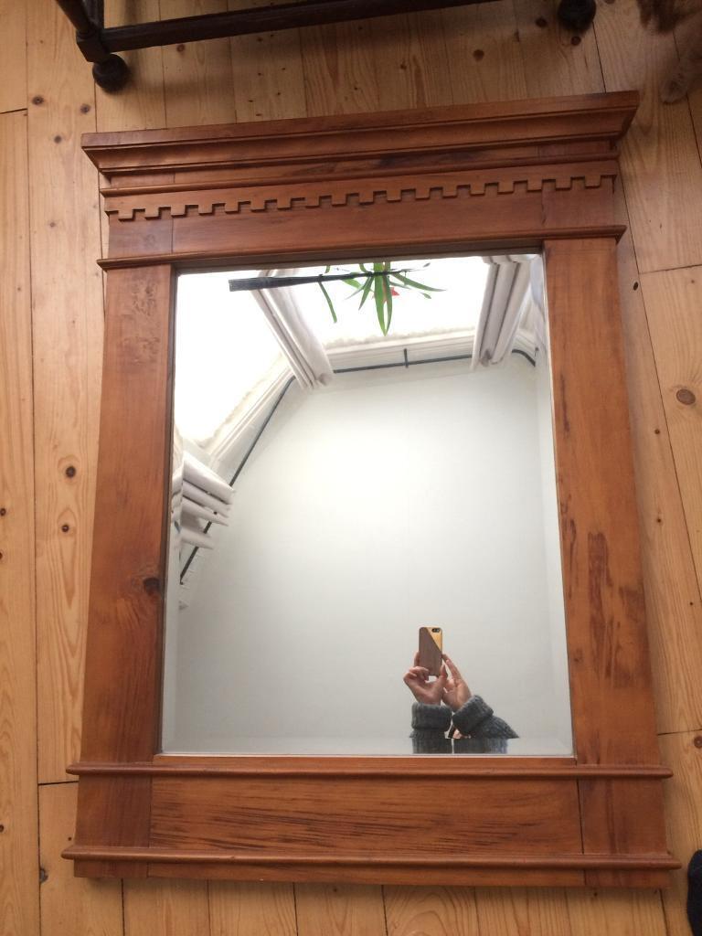 Large wood frame mirror   in St Georges Cross, Glasgow   Gumtree