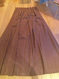 Pair Lined Chocolate Brown Curtains - professionally made