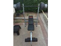 Pro power bench plus weights