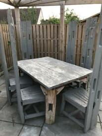 Garden table and chairs furniture