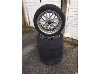 "17"" BBS VOLVO ALLOY WHEELS WITH TYRES"