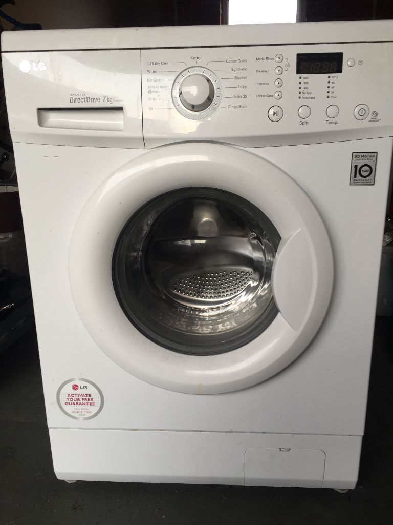 lg f1456qd direct drive 7kg washing machine in corby northamptonshire gumtree. Black Bedroom Furniture Sets. Home Design Ideas
