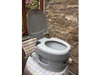 Camping Toilet Campingaz Small Flush Chemical toilet.