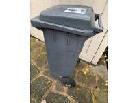 Small black Barnet Council refuse bin