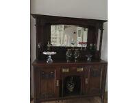 Art Noveau Oak Dresser