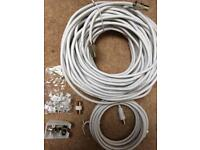 Tv aerial cable kit - 25m + 5m cable with fixings £7.50ono
