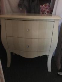 Beautiful cream two drawer chest