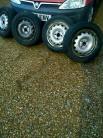 """4 combo corsa 4"""" wheels and tyres"""