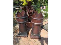 Pair of King Chimney Pots