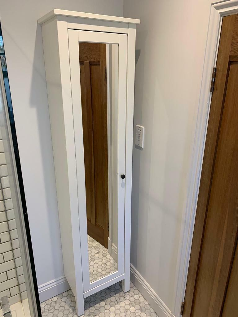Ikea Hemnes High Cabinet With Mirror Door White In Barnes London Gumtree