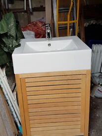 Bathroom Sink with storage unit
