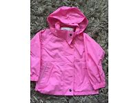 Girls pink Regatta rain jacket age 3-4 £3