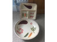 Large Serving Bowl and Party Platter Plate