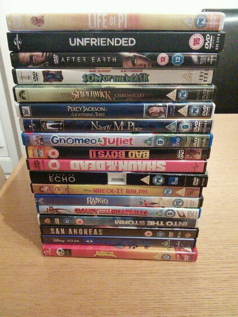 DVDs, mostly childrens