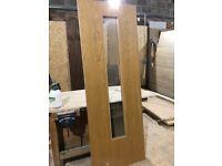3x Oak Glazed doors
