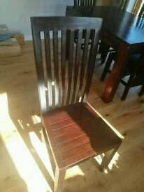 Lombok solid hardwood table and 4 chairs